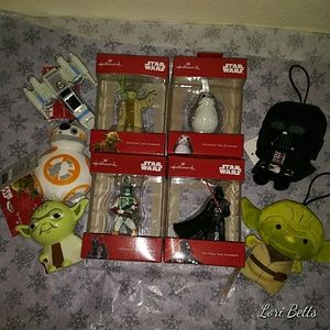 Lot of 9 Star Wars Christmas Ornaments 2018 New